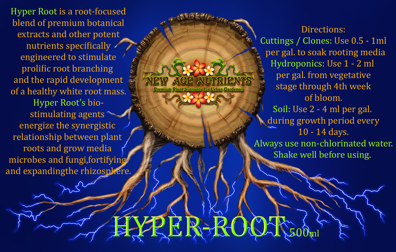 Hyper Root Label Blue Background